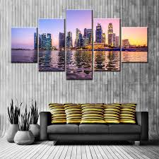 Prints For Home Decor Large Hd Picture Beautiful A Night View Of Singapore U0027s Seaside