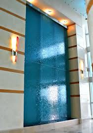 Interior Waterfall Design by Waterfall Wall Fountain In A Lobby Of Residential Building
