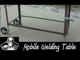 miller arcstation 30fx welding table mobile welding table youtube