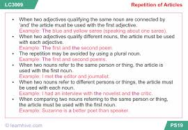 learnhive icse grade 8 english articles lessons exercises