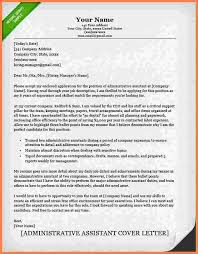 sample cover letters for administrative assistant administrative