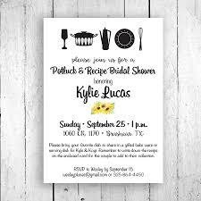 potluck recipe shower invitation potluck wedding shower