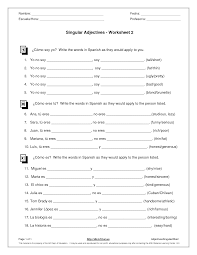 12 best images of spanish possessive adjectives worksheet
