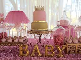 creative decoration pink and gold baby shower decor looking