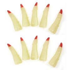 halloween glow in the dark witch red claw tips finger nail light