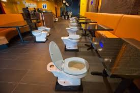 themed toilet seats toilet themed magic restroom café hits california ny daily news