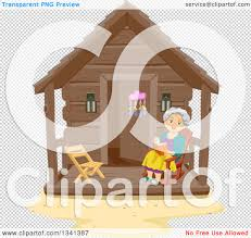 Wooden Chair Clipart Png Clipart Of A Happy Senior White Woman Reading A Book In A Rocking