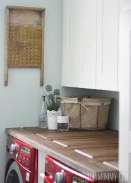 table top washer dryer make a laundry room countertop from an old door the diy mommy
