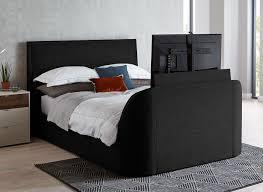 Tv Bed Frames Slate Fabric Tv Sound Bed Frame Dreams