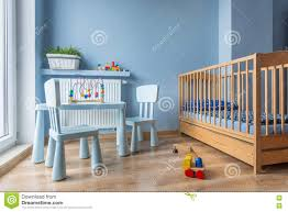 Light Blue Color by Baby Room In Light Blue Color Stock Photo Image 76212101