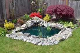 Small Backyard Fish Pond Ideas Garden Design Garden Design With Small Back Yard Fish Ponds