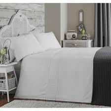 appletree ladder stitch white pure cotton 200 thread count duvet