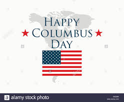columbus day the discoverer of america usa flag and continent