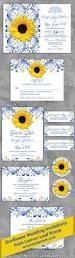 Wedding Invite Spreadsheet Royal Blue Sunflower Wedding Invitation Royal Blue And Yellow
