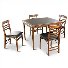 Folding Wood Card Table Folding Wood Card Table And Chairs Set Modern Looks Vintage 5