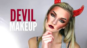 devil makeup tutorial halloween makeup 2 looks in 1 youtube