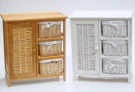 amazing bathroom enchanting wooden and rattan chest of drawers