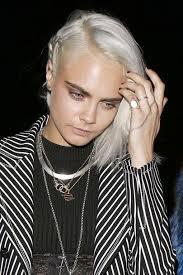 glamorous styles for medium grey hair cara delevingne s grey hair is gorgeous glamour uk
