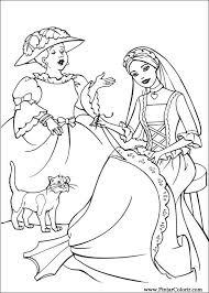 drawings paint barbie princess coloring
