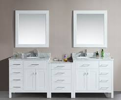 Popular Bathroom Vanities by Avola 92 Inch Double Sink Bathroom Vanity White Finish