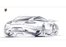 drawn car porsche pencil and in color drawn car porsche