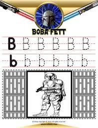 star wars letter tracing coloring pages esl kidz tpt