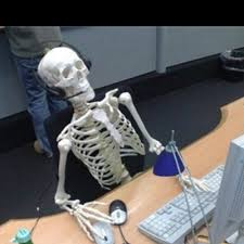 Skeleton Computer Meme - skeleton computer meme generator