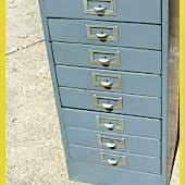 Upcycled Filing Cabinet Repurpose Office Wallflower Rocks The Garage The Refab Diaries