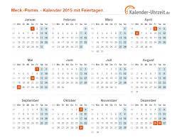 Kalender 2018 Feiertage Mv Feiertage 2015 Meck Pomm Kalender