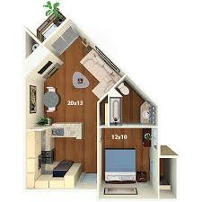 1 Bed 1 Bath Apartment Villas At Park La Brea Apartments Los Angeles Ca Floor Plans