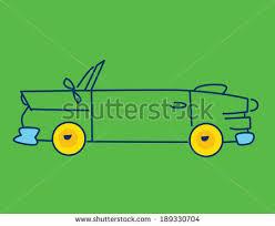cartoon convertible car cartoon convertible car hood down blue stock vector 189330704