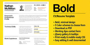 great resume template 10 beautiful resume html templates