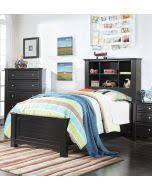 Black Bookcase Headboard Acme 30380t Mallowsea 4pcs Black Bookcase Twin Bedroom Set