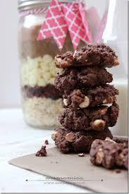 chocolate cherry drop cookies in a jar