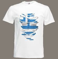 Flag T Shirt Greek Flag T Shirt See Muscles Through Ripped T Shirt Greece Sizes
