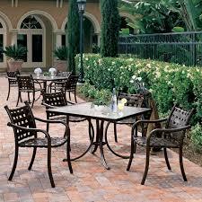 Tropitone Patio Table La Scala Cross Outdoor Furniture Tropitone