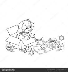 coloring outline cartoon puppy dog