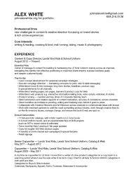 Categories For A Resume Cv U2014 Alex White