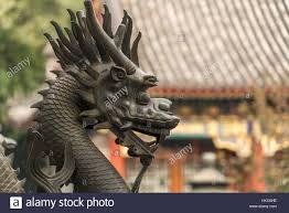 qilin statue guard qilin statue summer palace beijing china stock