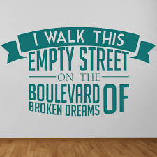 song lyric quotes wall stickers iconwallstickers co uk green day boulevard of broken dreams song lyrics wall stickers music art decals