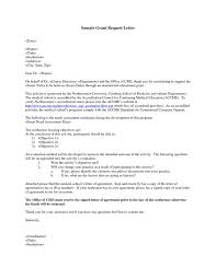 grant request letter write private funding closing statement