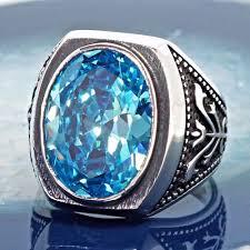 blue gemstones rings images 925 sterling silver mens ring swiss blue topaz unique handmade jpg
