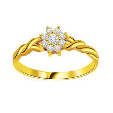 golden rings design images Floral ring flower shape diamond rings diamond rings online jpg