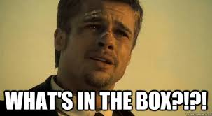 Black Box Meme - what s in the box brad pitt whats in the box quickmeme