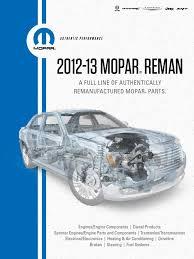 2012 2013 mopar reman catalog chrysler dodge