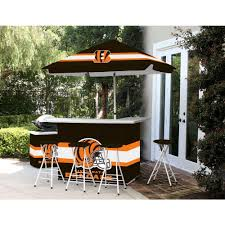 Patio Sets With Umbrellas by Best Of Times Cincinnati Bengals All Weather Patio Bar Set With 6
