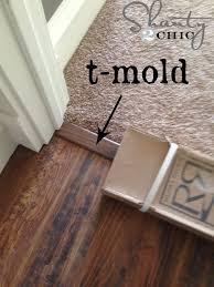 Diy Laminate Flooring Ideas About Black Laminate Flooring On Indoor Metal Trim Moulding