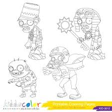 plants zombies coloring pages book snow pea plants