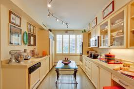 Track Lighting For Kitchens Modern Transitional Buttermilk Yellow Kitchen Eclectic Kitchen