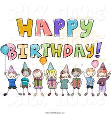 singing birthday text happy birthday text clipart 40